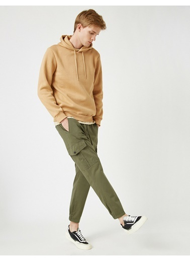 Koton Gabardin Kumas Chino Pantolon Yeşil